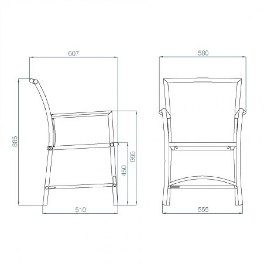 Madeleine chair natural available from verdon grey the for Outdoor furniture dimensions