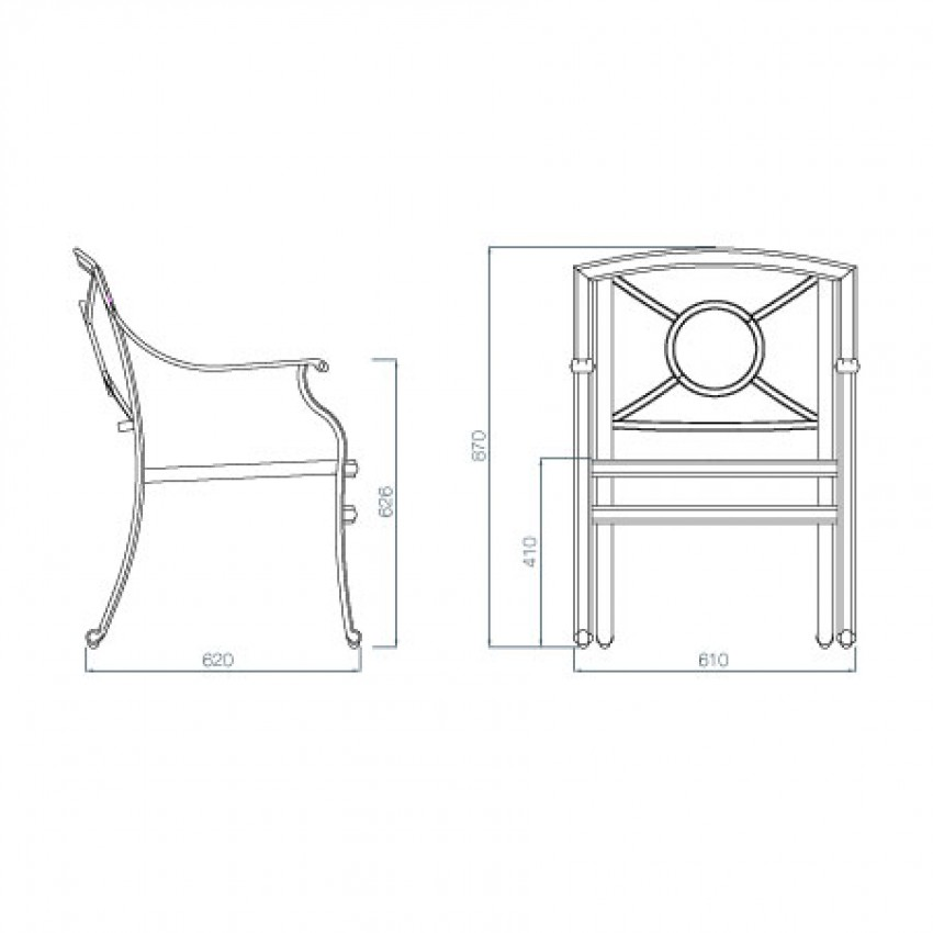 Outdoor Patio Furniture Dimensions: Soleils Dining Chair Available From Verdon Grey The Luxury